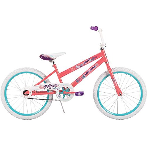 Huffy 20-inch So Sweet Girls' Bike, Ideal for Ages 5-9 and Rider Height 44-56 inches, Daisy, Heart, and Polka Dot Graphics on Padded Seat, Easy Assembly, Style 23315