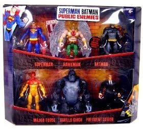 Mattel Superman Batman Public Enemies Mini Figure 6-Pack Superman ...