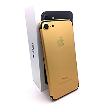 Apple iPhone 7 128 Gb 24k Gold Plated Unlocked Sim free (Gold and Black)