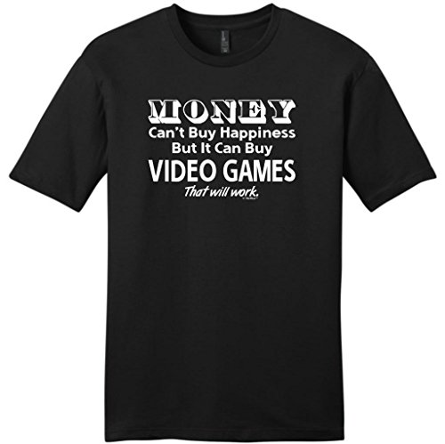 Money Can't Buy Happiness But It Can Buy Video Games Young Mens T-Shirt X-Large Black