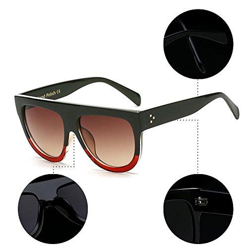 BOZEVON y Gafas aire libre Estilo al UV400 Siamese de sol Nuevo deporte para 05 Gafas Moda Hombre Mujer r4q8fr6