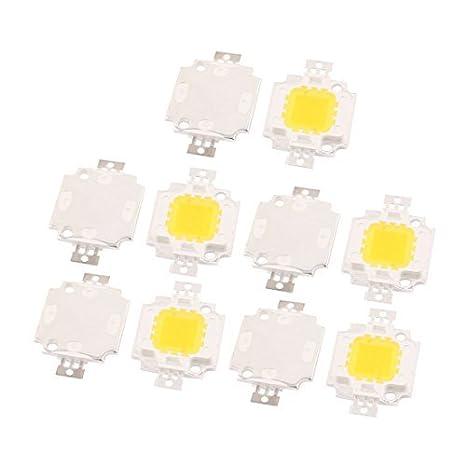 eDealMax 10pcs 30-34V 10W viruta del LED del bulbo blanco ...