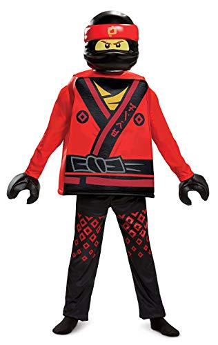 Disguise Kai Lego Ninjago Movie Deluxe Costume, Red, Large -