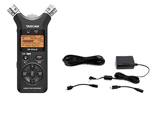 TASCAM リニアPCMレコーダー DR-07MKII 日本語メニュー表示/日本語パネルバージョン [DR-07MKII-JJ] + ACアダプター PS-P520E セット   B0787ZVDZX