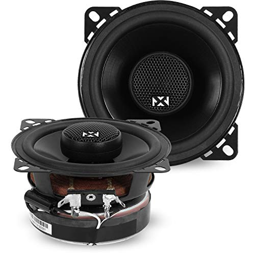 NVX 4 inch Professional Grade True 60 watt RMS 2-Way Coaxial Car Speakers [V-Series] with Silk Dome...