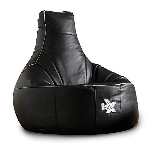 i-eX® - Sillón para Juegos - Piel Sintética, Color gris y negro
