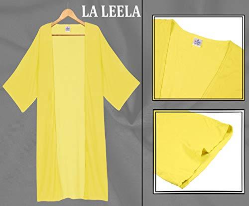 Rayón Rebeca Que Sólida Verano a711 De A Las Llanura Superior Del Mantón Mujeres Cubre Largo La Kimono Leela Cubierta Amarillo 0p1Paa