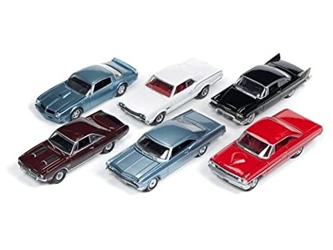 New 1:64 AUTO WORLD PREMIUM SERIES RELEASE 42C VINTAGE MUSCLE & CLASSIC CHROME SET Diecast Model Car By Auto World Set of 6 Cars