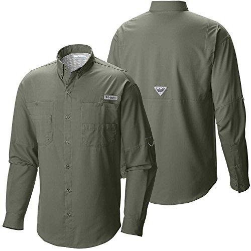 Columbia Men's Plus Tamiami II Long Sleeve Shirt, Cypress - Small