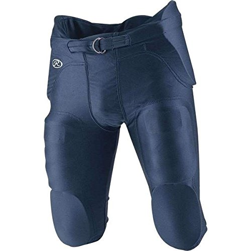Rawlings F2500P Youth Integrated Football Pants (Navy, Large) - Rawlings Football Pants