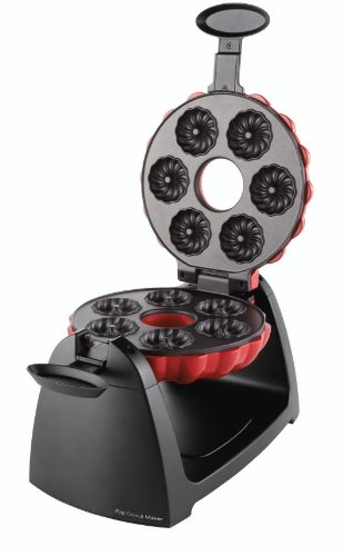 Sunbeam FPSBFDM922 Flip Donut Maker, Red/Black