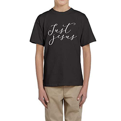 LingBer Youth Just Jesus - Christian Kids Girls Boys T-Shirt