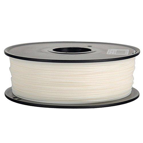 Plastic Corn Biodegradable Pen - Anet 3D Printing Filament,340m Lenght 1.75mm PLA Biodegradable filament 3d printing Material,Dimensional Accuracy 0.02mm 2.2lbs Spool for 3D Printers&3D Pen-White