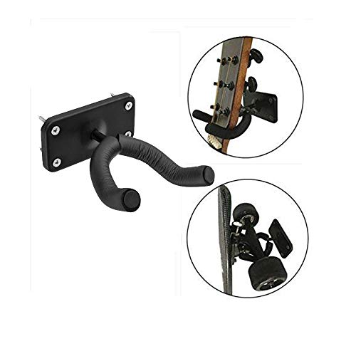 (Maxfind Longboard Wall Mount Skateboard Guitar Wall Hook Wall Carbon Steel Hanger Wall Rack)