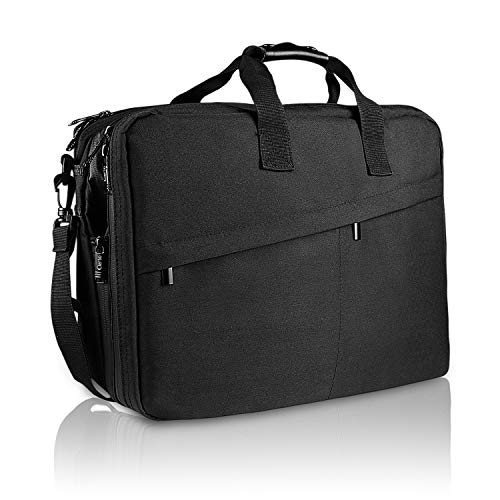 (Cierto Laptop Bag Business Briefcase for Men 15.6 Inch, Large Expandable Compartment & Removable Shoulder Strap with Water Resistant Materials)