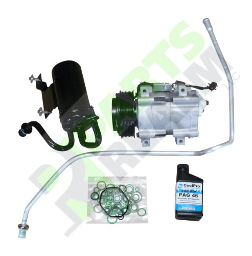 Parts Realm CA-0220AK New A/C AC Compressor Kit Dodge Ram R2500 R3500 5.9L Diesel, 6.7L Trucks 2006 2007 2008 2009 Kit Comes with A/C AC Compressor, Accumulator, Liquid Line with Orifice, Oil O-rings ()
