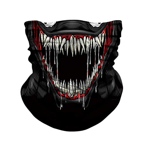 JOEYOUNG Skull Face Mask - UV Sun Mask Dust Wind Neck Gaiter, Half Face Mask for Motorcycle Riding Skeleton Bandana, Seamless Headwear Tube Mask for Fishing Hunting Cycling Men Women ()