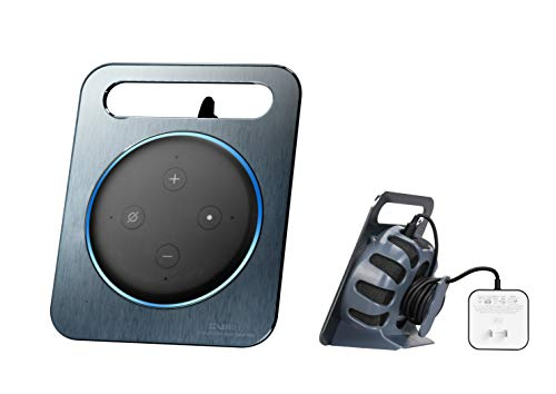 VMEI Metal Holder for Echo Dot 3rd Generation, A Perfect Solution for Saving Space and Storing Messy Wires for Your Smart Home Dot 3rd, Increase The Beauty of The Desktop (Gray)