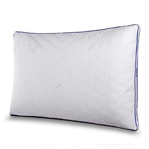 OMAAI Gusseted Bed Pillow, Ultra Soft Bedding Pillows with Dust and Mite Repellent Elastic Fiber and Hypoallergenic Filler for Better Sleeping (Queen, 1 Pack) - Gusseted Square Pillow