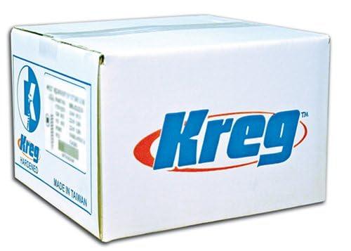 Kreg SML-F125-5000 1-1//4-Inch Pocket Screws 5000-Pack Washer Head 7 Fine