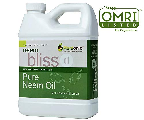 - Organic Neem Bliss 100% Pure Cold Pressed Neem Seed Oil 32 oz - OMRI Listed for Organic Use