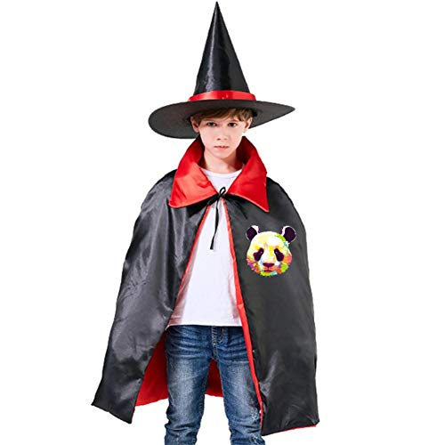 Art Color Panda Kids Cloak Wizard Witch Hat