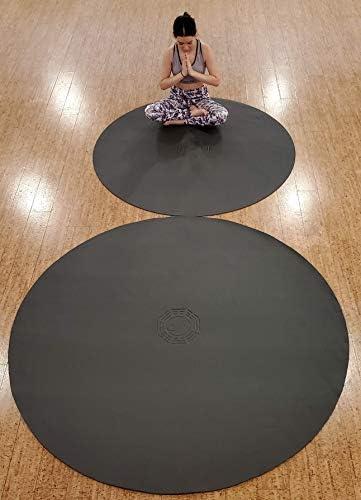 SISYAMA Circle Round 5 6 TAI-CHI YIN-YANG Yoga Mat Meditation Pilate