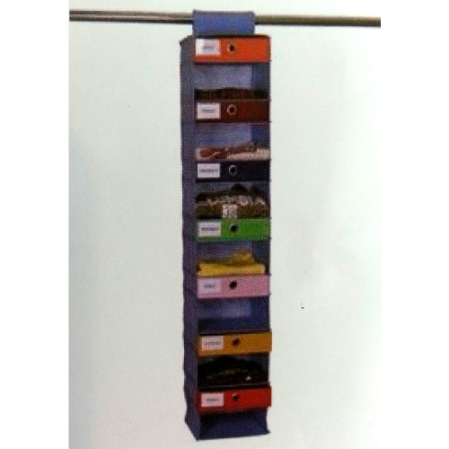Amazon.com: 7-slot DAILY Non-woven Hanging Closet Organizer with Drawers -  Kids Daily Activity Organizer or Clothes Organizer for Adults