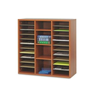 Safco - Apr?S Literature Organizer 30 X 12 X 30 Cherry ''Product Category: Desk Accessories & Workspace Organizers/Sorters''