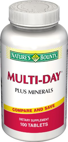 Journée Bounty multi nature plus Minerals, 100 comprimés (lot de 2)