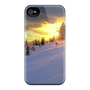 New Cute Funny Wonderful Winter Sunset Case Cover/ Iphone 4/4s Case Cover