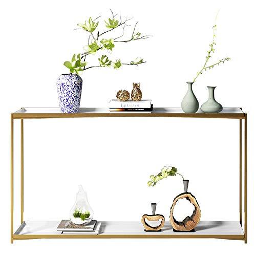 (Feifei Side Table Modern Minimalist Living Room Porch Table Entrance Hall Rectangular Wrought Iron Aisle Decorative Side Table 1002575CM)