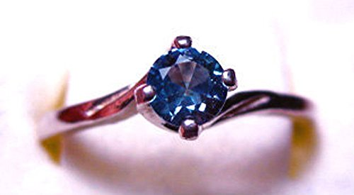 - Montana Sapphire Twist Solitaire Ring Sterling Silver