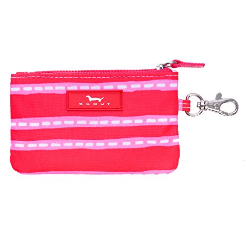 SCOUT IDKase Card Holder or Wallet, ID Holder Window, Key Clasp, Water Resistant, Zips Closed, Double Dutch