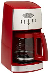Hamilton Beach 43253 Ensemble 12-Cup Coffeemaker with Glass Carafe, Red