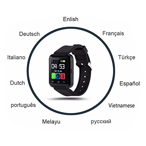 DOESIT Touch Screen Smartwatch U8 Bluetooth Smart Watch for Samsung Galaxy HTC Nexus Sony LG Huawei Android Smartphones by DOESIT (Image #8)