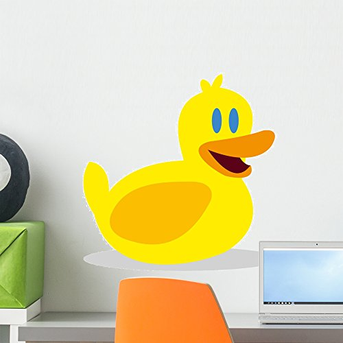 Wallmonkeys Vector Rubber Duck Icon Wall Decal Peel and Stick Graphic (18 in H x 18 in W) WM111707 -