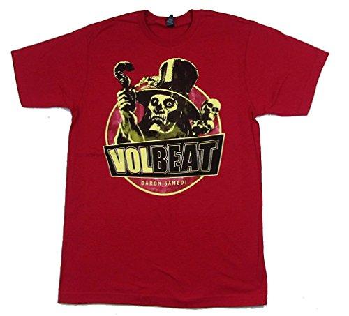 Volbeat Baron Samedi Red T Shirt - Baron Shirt