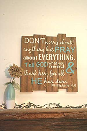 amazon don t worry about anything but pray about everything
