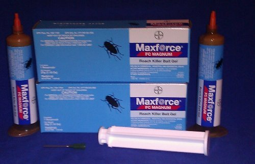 Tube Regular - 2 Tubes Maxforce FC Magnum Cockroach German Roach Pest Control Gel Bait 33 gram per tube w/ 1 Plunger ~~ 5 Times Stronger then Regular Maxforce FC Roach Gel ~~ Mata Cucarachas! THE NEW MAGNUM PACKAGED IN BLUE