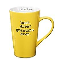 Mom Love Pavilion Gift Company 14017 Stoneware Mug, Best Great Grandma Ever, Multicolored