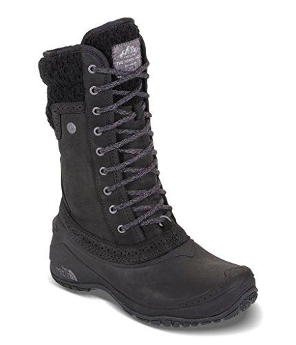 The North Face Women's Shellista II Mid Insulated Boot - TNF Black & Plum Kitten Grey - 7