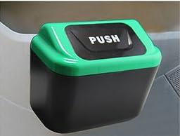 Mini Auto Car Vehicle Trash Rubbish Can Garbage Dust Case Holder Box Bin Green