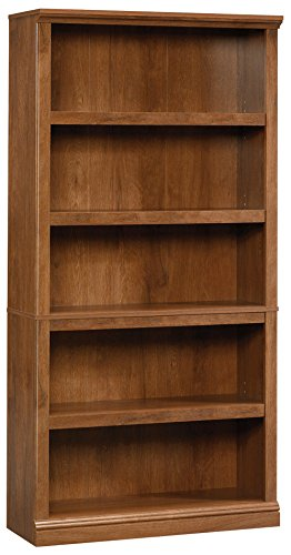 Sauder 5-Shelf Bookcase, Oiled Oak Finish