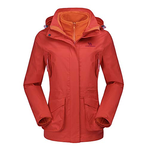 CAMEL CROWN Womens Waterproof Ski Jacket 3-in-1 Windbreaker Winter Coat Fleece Inner for Rain Snow Outdoor Hiking ()