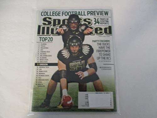 AUGUST 17, 2009 SPORTS ILLUSTRATED FEATURING OREGON DUCKS PLAYERS JEREMIAH MASOLI - JORDAN HOLMES * PARTY CRASHERS - THE DUCKS HAVE THE FIREPOWER TO SHAKE UP THE BCS - BY AUSTIN MURPHY*