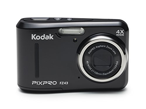 Kodak-PIXPRO-Friendly-Zoom-FZ43-16-MP-Digital-Camera-with-4X-Optical-Zoom-and-27-LCD-Screen-Black