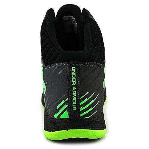 Jet Under homme 3 Vert Chaussures basketball Armour de Noir 6wawvq