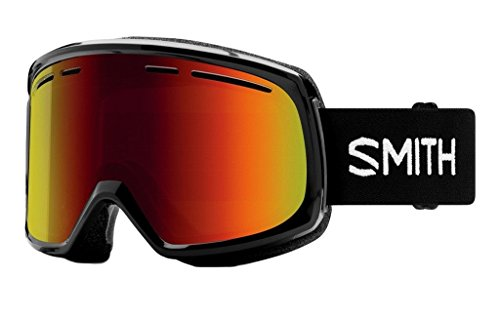 Smith Optics Adult Range Asian Fit Snow Goggles,Black Frame/Red Sol-X Mirror