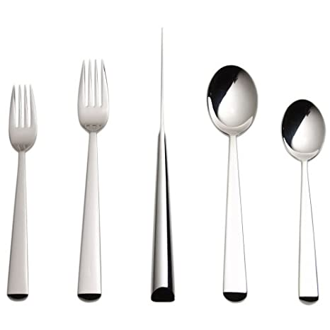 Amazon.com: Nambe Spinnaker 5-Piece Place Setting, servicio ...